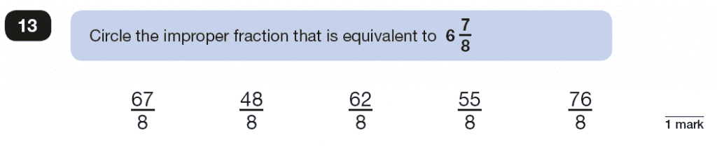 Qusetion 13 Maths KS2 SATs Papers 2018 - Year 6 Past Paper 2 Reasoning, Numbers, Fractions