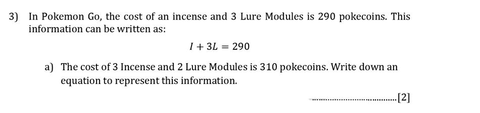 Reigate Grammar School - 13 Plus Maths Sample Paper - Calculator Question 03