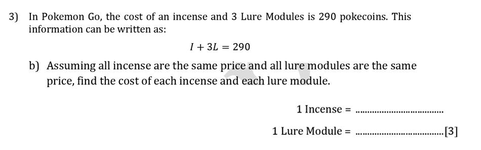 Reigate Grammar School - 13 Plus Maths Sample Paper - Calculator Question 04