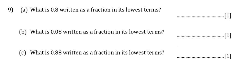 Reigate Grammar School - 13 Plus Pre-Test Maths Sample Paper Question 09