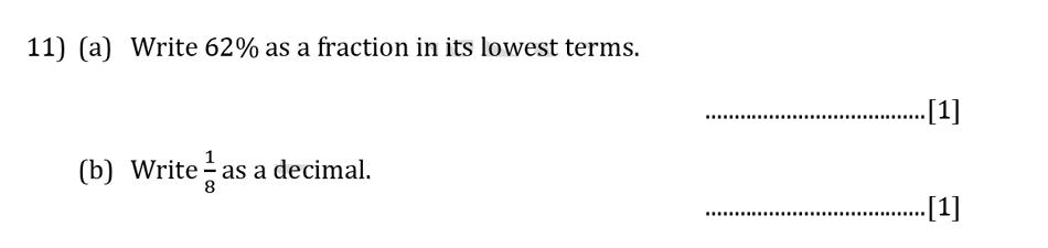 Reigate Grammar School - 13 Plus Pre-Test Maths Sample Paper Question 11