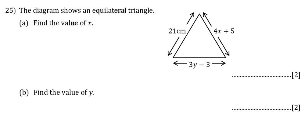 Reigate Grammar School - 13 Plus Pre-Test Maths Sample Paper Question 25