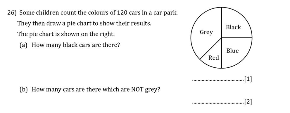 Reigate Grammar School - 13 Plus Pre-Test Maths Sample Paper Question 26