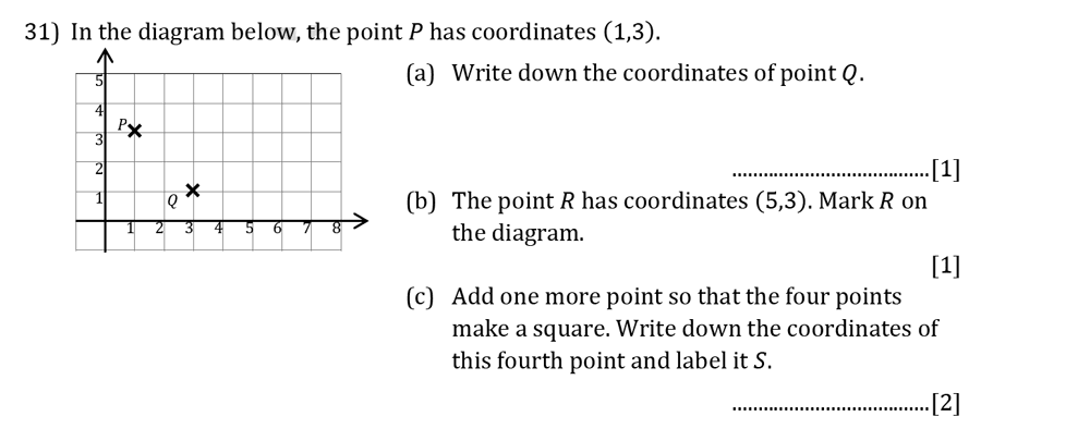 Reigate Grammar School - 13 Plus Pre-Test Maths Sample Paper Question 31