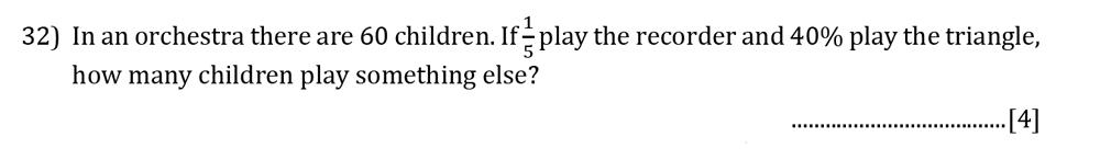 Reigate Grammar School - 13 Plus Pre-Test Maths Sample Paper Question 32