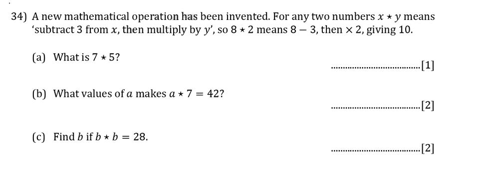 Reigate Grammar School - 13 Plus Pre-Test Maths Sample Paper Question 34