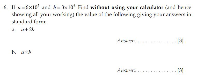 Sevenoaks School - Year 9 Maths Sample Paper 2009 Question 09