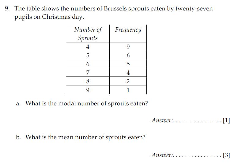Sevenoaks School - Year 9 Maths Sample Paper 2009 Question 13