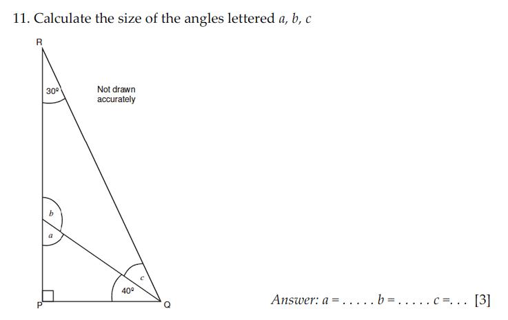 Sevenoaks School - Year 9 Maths Sample Paper 2009 Question 16
