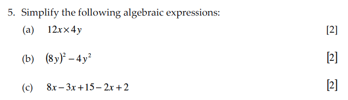 Sevenoaks School - Year 9 Maths Sample Paper 2010 Question 08