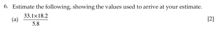 Sevenoaks School - Year 9 Maths Sample Paper 2010 Question 10