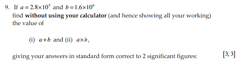 Sevenoaks School - Year 9 Maths Sample Paper 2010 Question 17