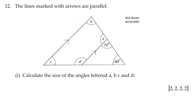 Sevenoaks School - Year 9 Maths Sample Paper 2010 Question 21