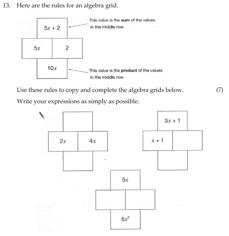 Sevenoaks School - Year 9 Maths Sample Paper 2010 Question 23