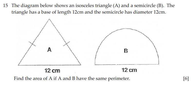 Sevenoaks School - Year 9 Maths Sample Paper 2010 Question 25