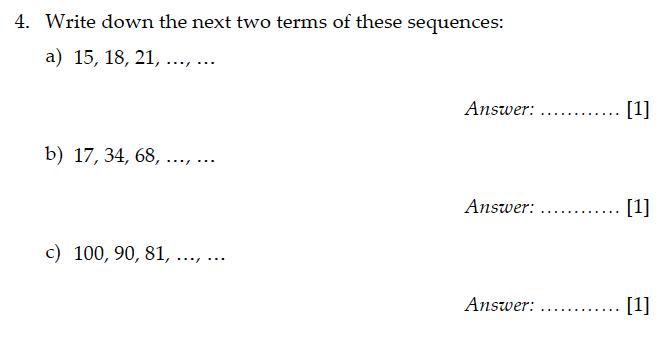 Sevenoaks School - Year 9 Maths Sample Paper 2011 Question 05
