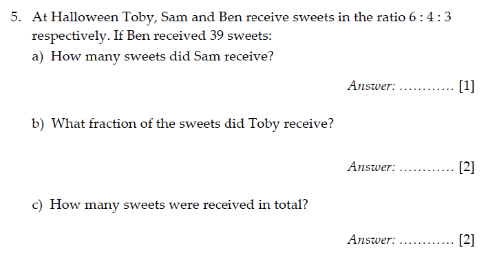 Sevenoaks School - Year 9 Maths Sample Paper 2011 Question 06