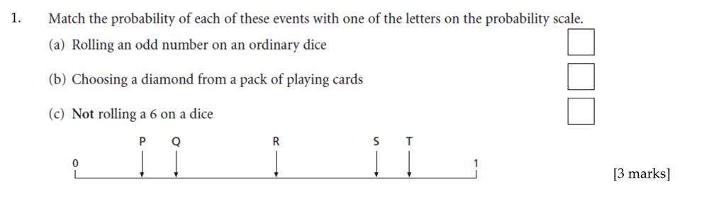 Sevenoaks School - Year 9 Maths Sample Paper 2012 Question 01