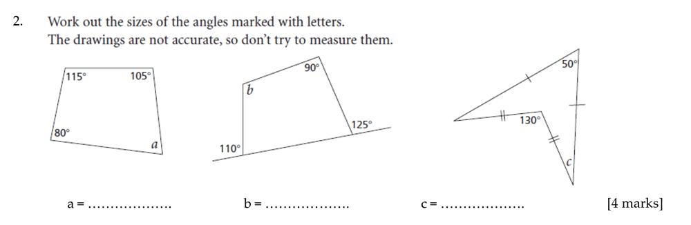 Sevenoaks School - Year 9 Maths Sample Paper 2012 Question 02