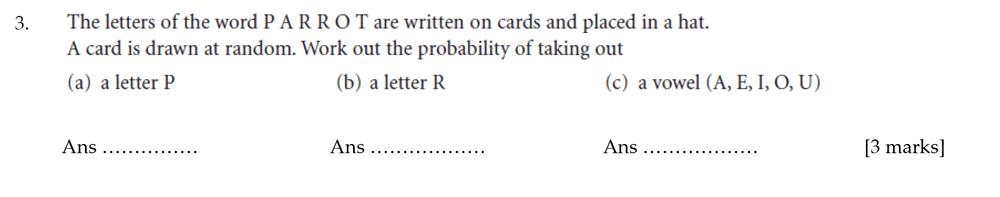 Sevenoaks School - Year 9 Maths Sample Paper 2012 Question 03