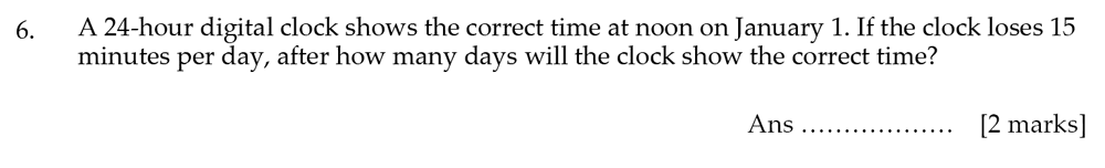 Sevenoaks School - Year 9 Maths Sample Paper 2012 Question 06