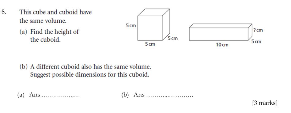 Sevenoaks School - Year 9 Maths Sample Paper 2012 Question 08