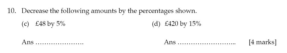 Sevenoaks School - Year 9 Maths Sample Paper 2012 Question 12