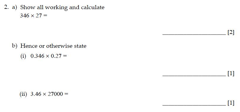 Sevenoaks School - Year 9 Maths Sample Paper 2013 Question 04