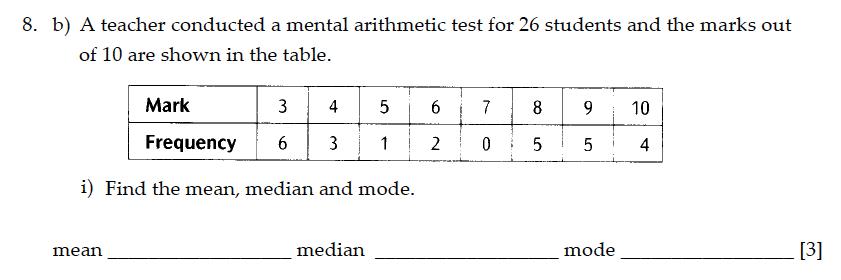 Sevenoaks School - Year 9 Maths Sample Paper 2013 Question 12