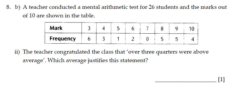 Sevenoaks School - Year 9 Maths Sample Paper 2013 Question 13