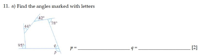 Sevenoaks School - Year 9 Maths Sample Paper 2013 Question 16