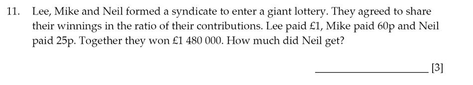 Sevenoaks School - Year 9 Maths Sample Paper 2014 Question 14