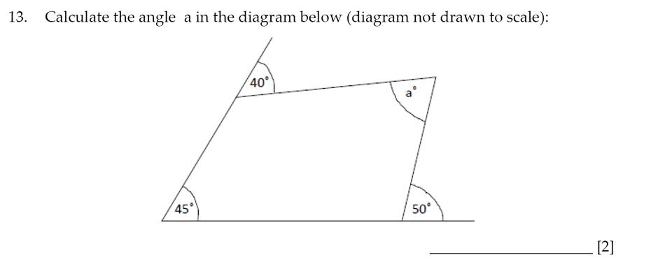 Sevenoaks School - Year 9 Maths Sample Paper 2014 Question 16