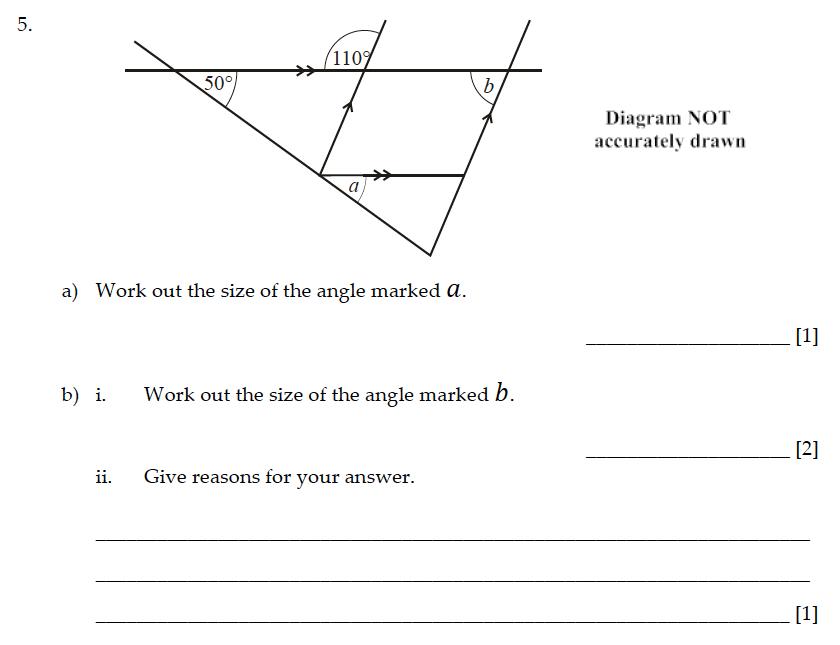 Sevenoaks School - Year 9 Maths Sample Paper 2015 Question 05