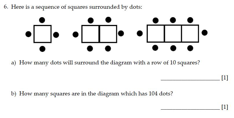 Sevenoaks School - Year 9 Maths Sample Paper 2015 Question 06