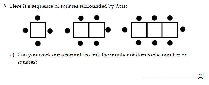Sevenoaks School - Year 9 Maths Sample Paper 2015 Question 07