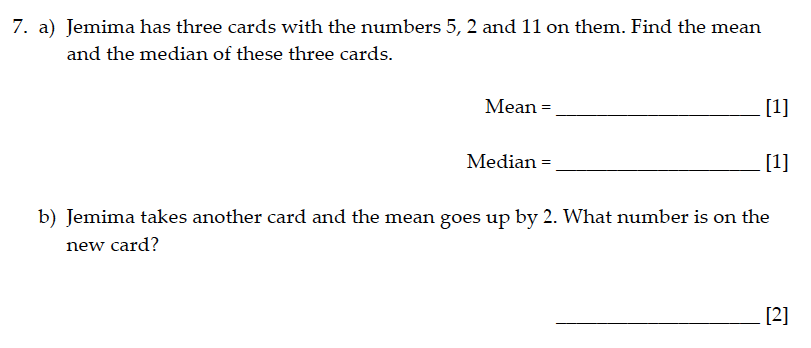 Sevenoaks School - Year 9 Maths Sample Paper 2015 Question 08