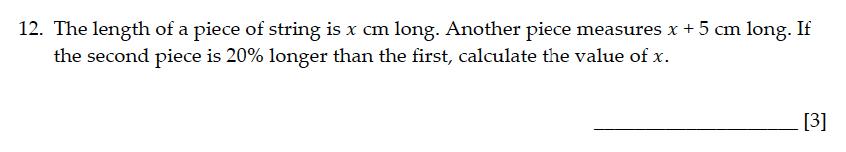 Sevenoaks School - Year 9 Maths Sample Paper 2015 Question 13