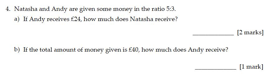 Sevenoaks School - Year 9 Maths Sample Paper 2016 Question 04