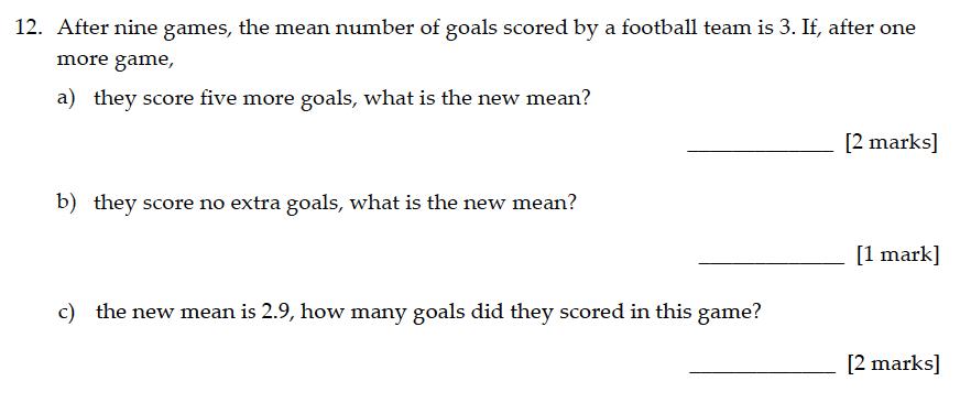 Sevenoaks School - Year 9 Maths Sample Paper 2016 Question 12