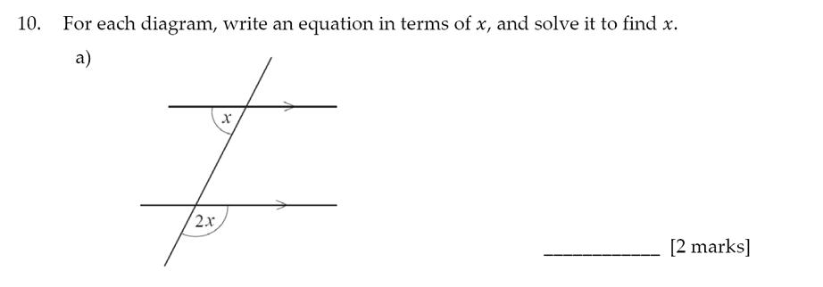 Sevenoaks School - Year 9 Maths Sample Paper 2017 Question 14