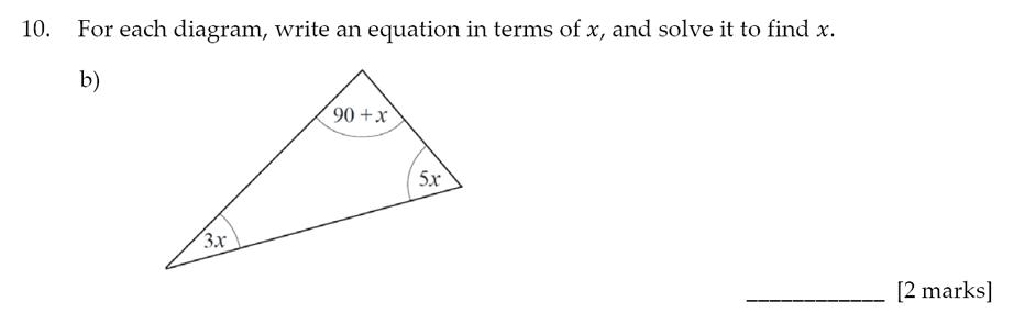 Sevenoaks School - Year 9 Maths Sample Paper 2017 Question 15