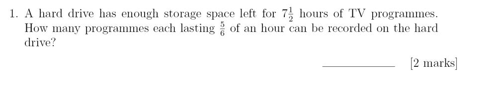 Sevenoaks School - Year 9 Maths Sample Paper 2018 Question 01
