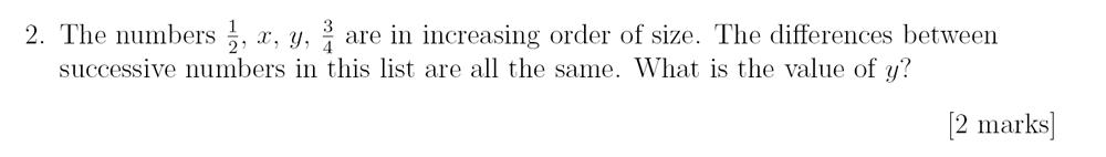 Sevenoaks School - Year 9 Maths Sample Paper 2018 Question 02