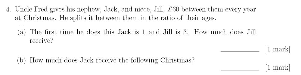 Sevenoaks School - Year 9 Maths Sample Paper 2018 Question 05
