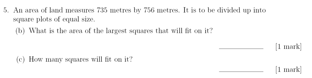Sevenoaks School - Year 9 Maths Sample Paper 2018 Question 08