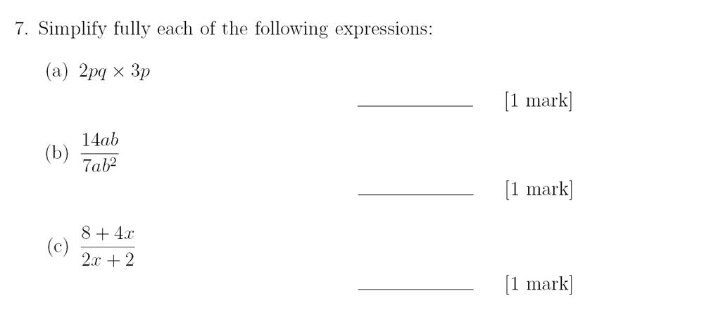 Sevenoaks School - Year 9 Maths Sample Paper 2018 Question 10