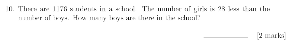Sevenoaks School - Year 9 Maths Sample Paper 2018 Question 14