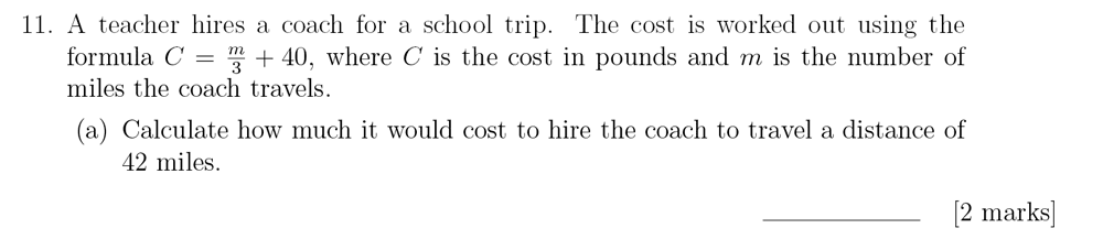 Sevenoaks School - Year 9 Maths Sample Paper 2018 Question 15