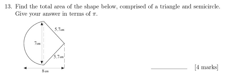 Sevenoaks School - Year 9 Maths Sample Paper 2018 Question 18